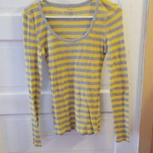 Ladies striped long sleeve